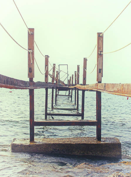 Wall Art - Photograph - Misty Morning Jetty by Philip Openshaw