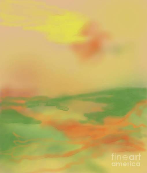 Digital Art - Misty Morning Sunrise by Annette M Stevenson