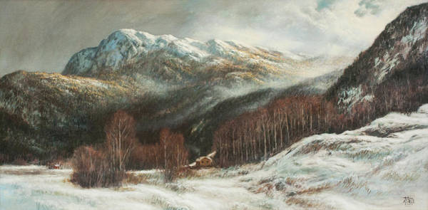 Painting - Misty Mountain by Hans Egil Saele