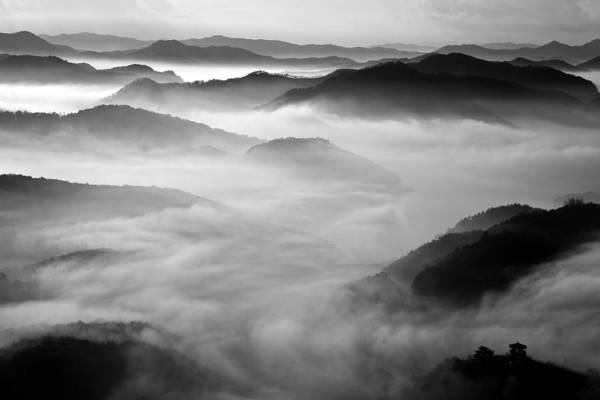 Mixed Media - Misty Mountain Haze by Art Shack