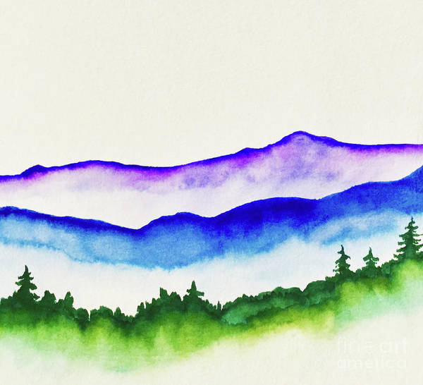Fife Painting - Misty Mountains by Marisa Fife