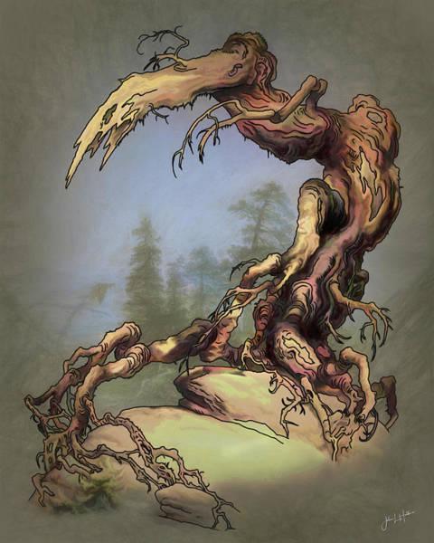 Digital Art - Misty Mythic Woods by John Haldane