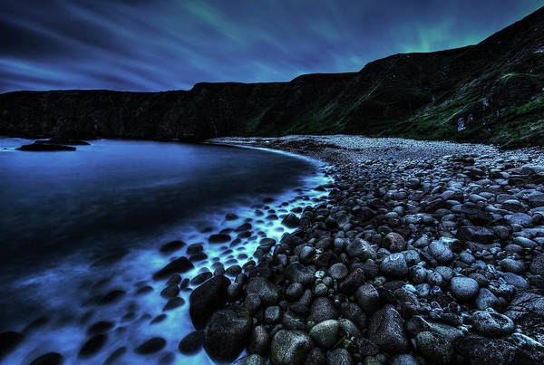 Waters Edge Photograph - Misty Pebbles Cove by Gareth Wray