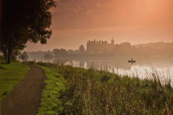Lakeshore Photograph - Misty Sunrise by Dennis Barnes