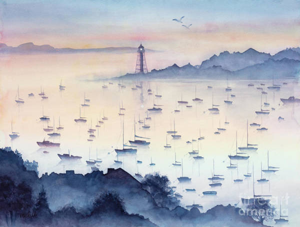 Painting - Misty Sunrise Marblehead Harbor by Michelle Constantine