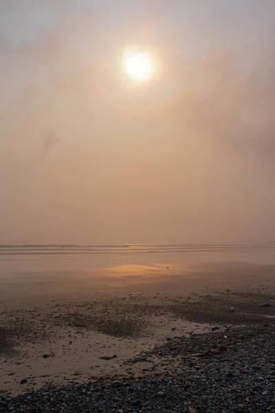 Wall Art - Photograph - Misty Sunrise Over Nantasket Beach Hull Massachusetts Reflection Golden Sunrise by Toby McGuire