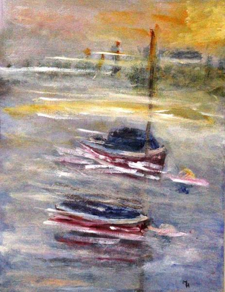Painting - Mistymoorings by Michael Helfen