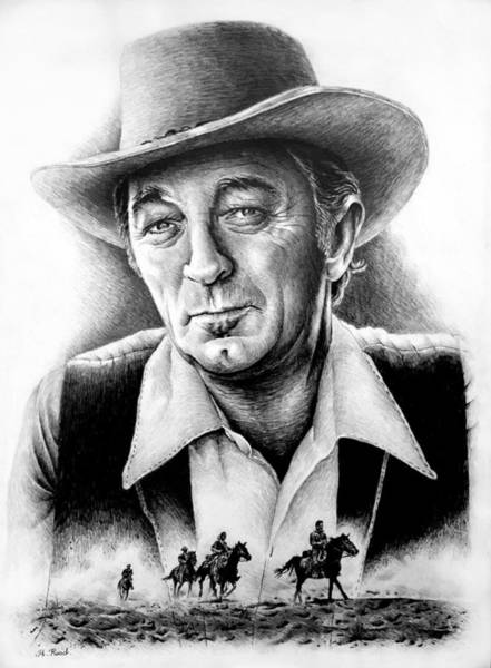 Wall Art - Drawing - Mitchum 1 by Andrew Read