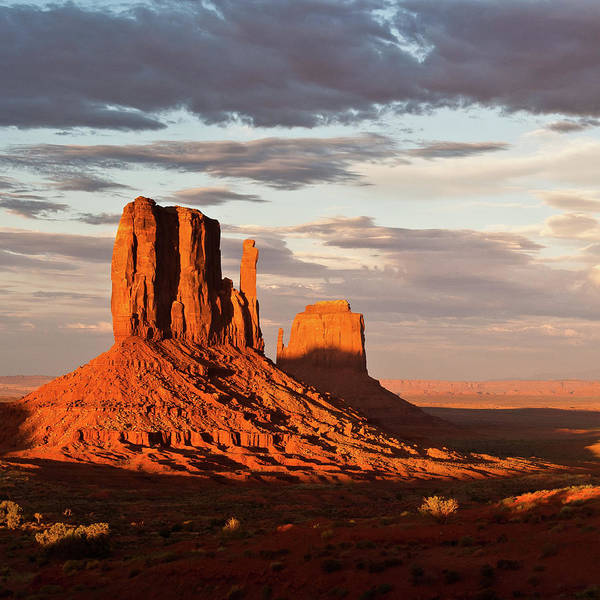 The Mitten Photograph - Mittens Of Monument Valley by Photo By P.folrev