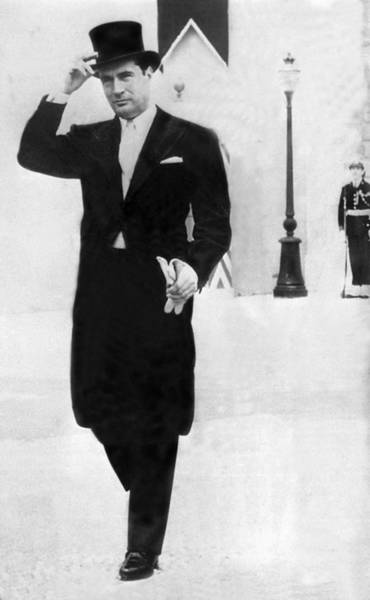 Monaco Photograph - Mitterrand In Coat And Top Hat In The by Keystone-france
