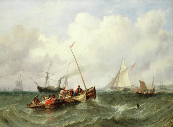 Craft Painting - Mixed Crafts At Spithead by William Adolphus Knell