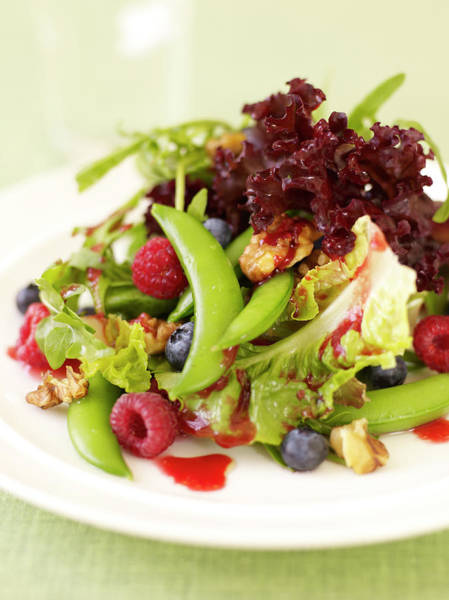Dressing Up Photograph - Mixed Greens With Raspberry Vinaigrette by James Baigrie