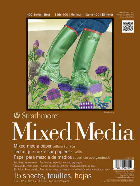Painting - Mixed Media 400 9 By 12 Inches 15 Sheets by STRATHMORE Artist Papers
