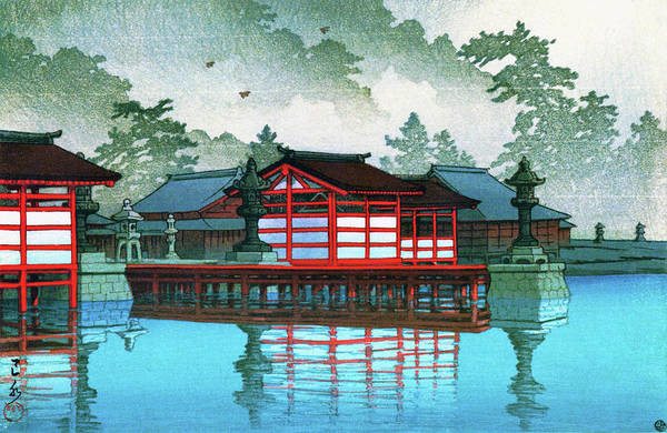 Wall Art - Painting - Miyajima In The Mist - Digital Remastered Edition by Kawase Hasui