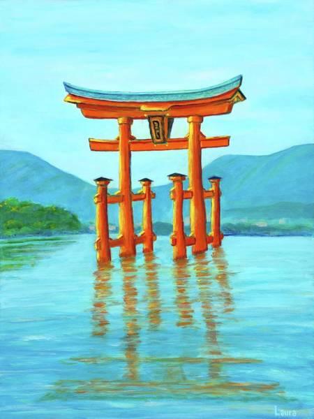 Wall Art - Painting - Miyajima Island 2 by Laura Zoellner