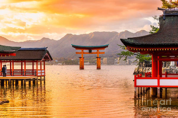Wall Art - Photograph - Miyajima, The  Famous Floating Torii by Luciano Mortula - Lgm