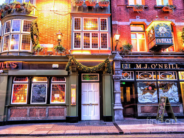 Wall Art - Photograph - M.j. O'neill At Night In Dublin by John Rizzuto