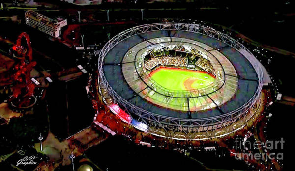 Digital Art - Mlb London Stadium by CAC Graphics