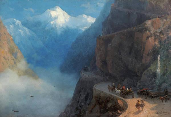 Wall Art - Painting - Mleta, Gudauri, Georgia, 1868 by Ivan Konstantinovich Aivazovsky