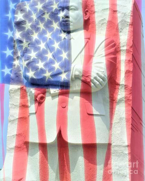 Photograph - Mlk And Flag by Patti Whitten
