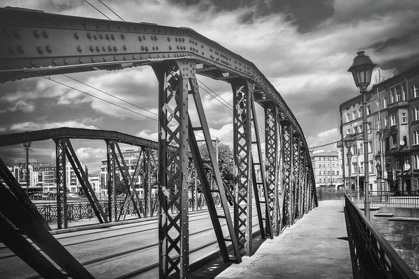 Wall Art - Photograph - Mlynskie Bridge Wroclaw Poland Black And White by Carol Japp