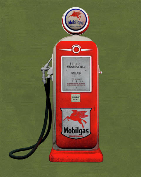 Digital Art - Mobile Gas by Jan Keteleer