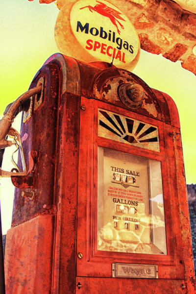 Wall Art - Photograph - Mobilgas Special - Vintage Wayne Pump by Tatiana Travelways