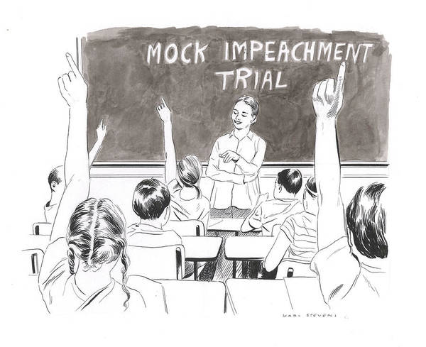 Pupil Drawing - Mock Impeachment by Karl Stevens
