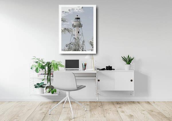 Photograph - Mock Up Lighthouse In Home Office by Rosalie Scanlon