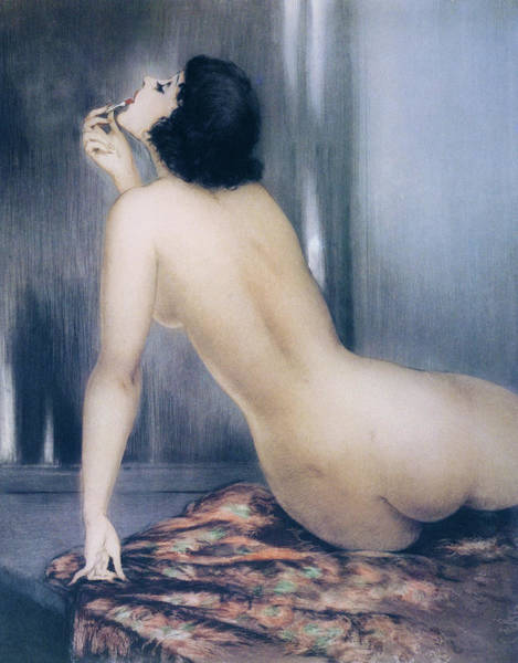 Make Love Wall Art - Painting - model 2 - Digital Remastered Edition by Louis Icart