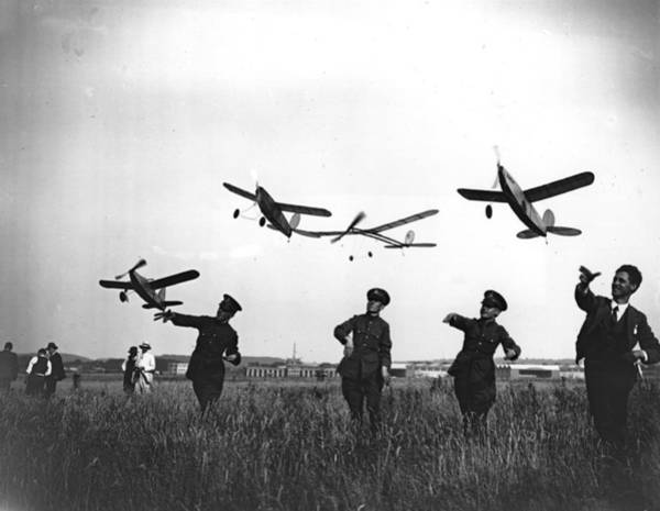 British Armed Forces Photograph - Model Aeroplanes by Crouch