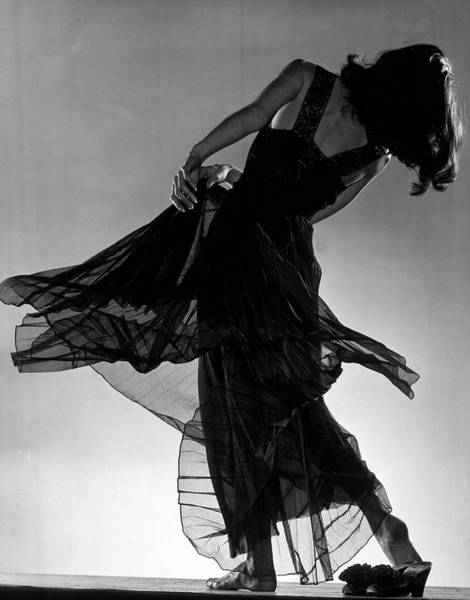 Photograph - Model Florence Dornin Twirling Around In by Gjon Mili