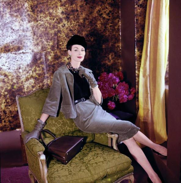 Max Factor Photograph - Model In A Ben Barrack Suit by Horst P. Horst