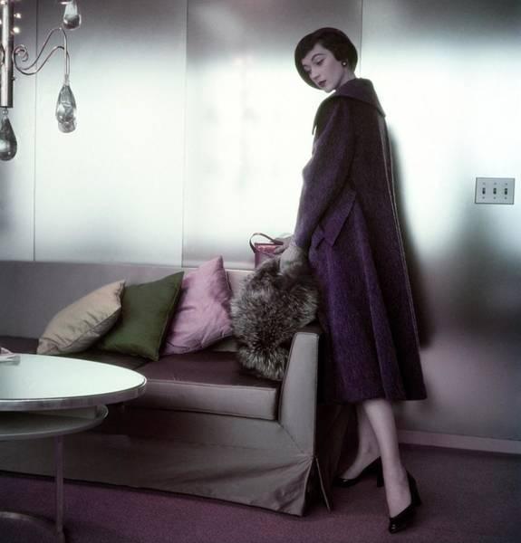 Grape Photograph - Model In A Ben Zuckerman Coat by Horst P. Horst