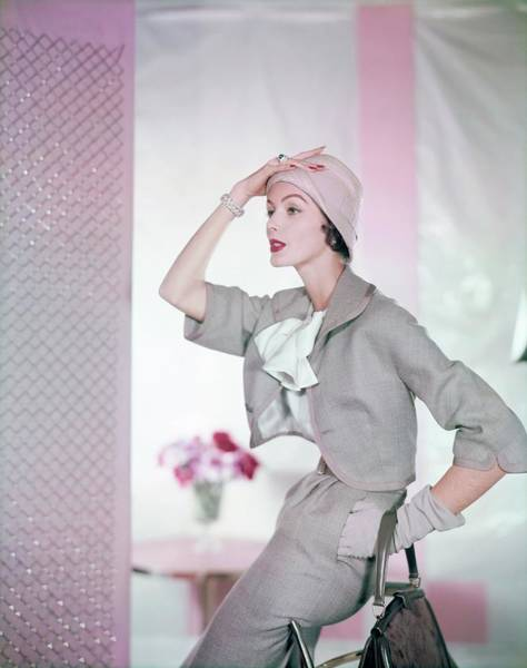 Photograph - Model In A Ben Zuckerman Suit by Horst P. Horst