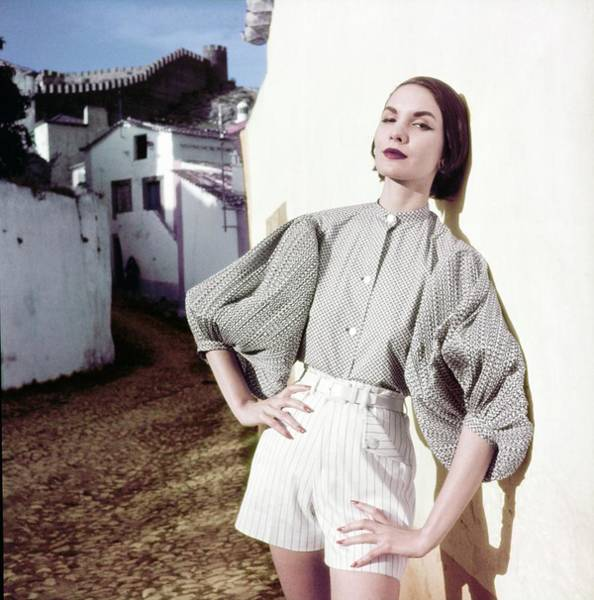 Photograph - Model In A Blouse And Shorts by Henry Clarke
