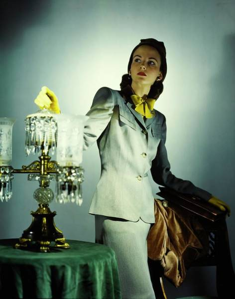 Wall Art - Photograph - Model In A Carolyn Modes Suit by Horst P. Horst