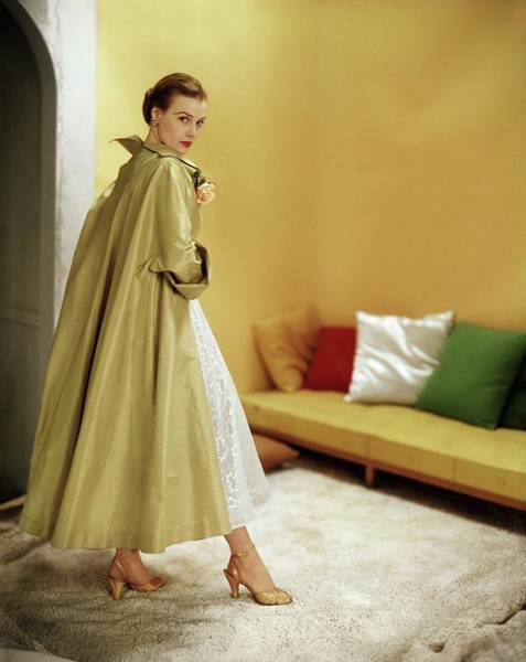 Photograph - Model In A Ceil Chapman Coat by Horst P. Horst