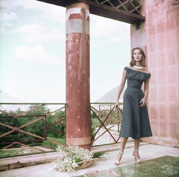 Wall Art - Photograph - Model In A Clare Potter Dress by Henry Clarke