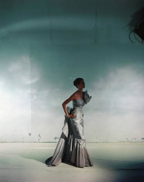 Wall Art - Photograph - Model In A Czettel Evening Gown by Horst P. Horst