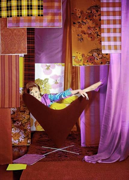 Shaded Photograph - Model In A George Tanier Chair by Horst P. Horst