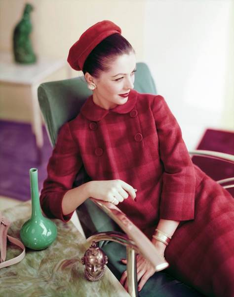 Mid Century Furniture Photograph - Model In A Gilden Juniors Ensemble by Horst P. Horst