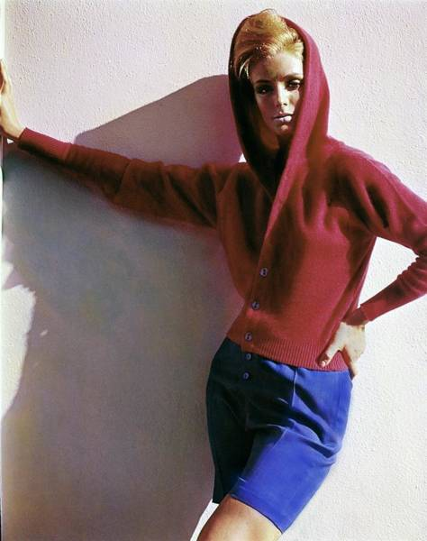 Photograph - Model In A Hadley Sweater by Bert Stern