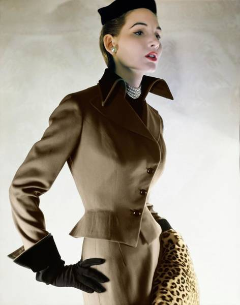 Photograph - Model In A Harry Frechtel Suit by Horst P. Horst