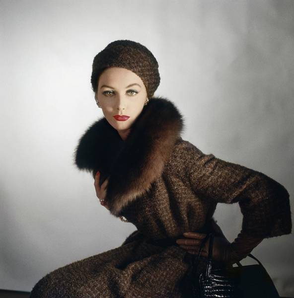 Wall Art - Photograph - Model In A Jablow Coat by Horst P. Horst