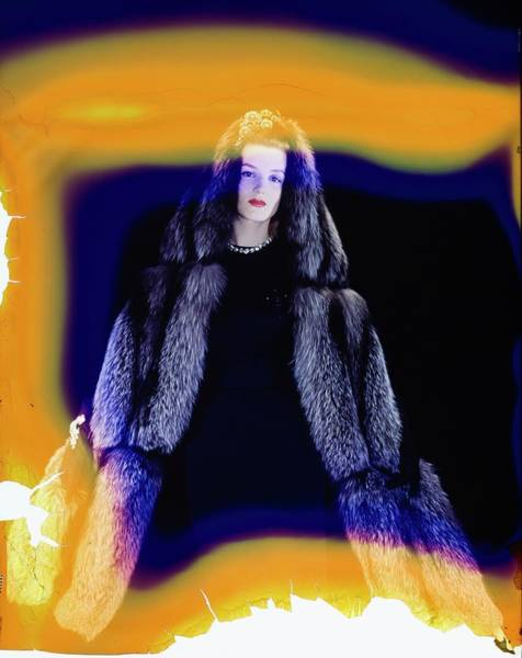Wall Art - Photograph - Model In A Jaeckel Fur Stole by Horst P. Horst