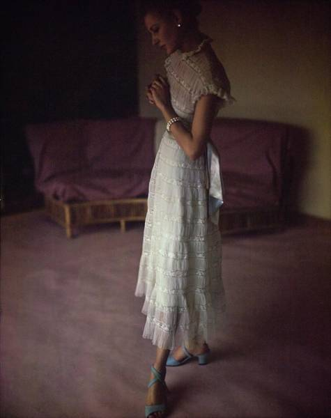 Photograph - Model In A Jane Derby Dress by Horst P. Horst