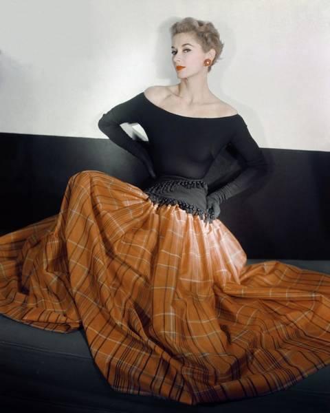 Wall Art - Photograph - Model In A Leslie Morris Dress by Horst P. Horst