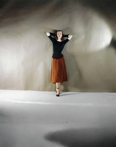Wall Art - Photograph - Model In A Leslie Morris Ensemble by Horst P. Horst