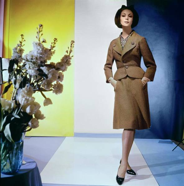 Photograph - Model In A Leslie Morris Suit by Horst P. Horst